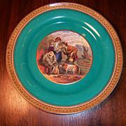 "Prattware, ""Lend a Bite""  Plate, F. & R. Pratt & Co."