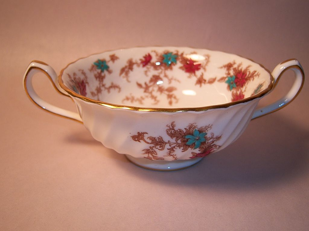Minton ANCESTRAL Old Globe Mark Cream Soup Bowl Only