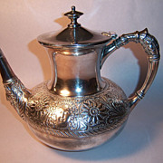 Rare Assyrian Head Meriden Britannia Coffee Pot