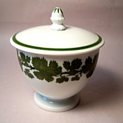 Meissen Full Green Vine Covered Sugar