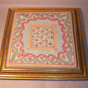 MacKenzie-Childs Heather Framed Trivet Plaque