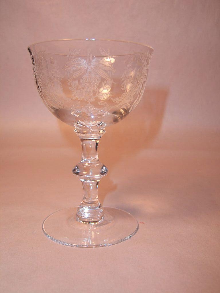 Rare Heisey Orchid Liquor Cocktail, Princess Blank 5089
