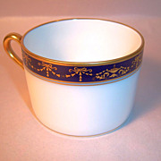 Richard Ginori Castello, Gold and Cobalt Tea Cup