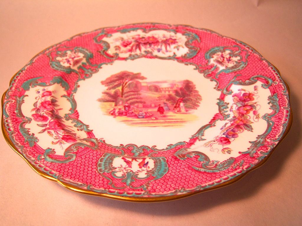 Beautiful spode queen mary salad plate from Beautiful plates