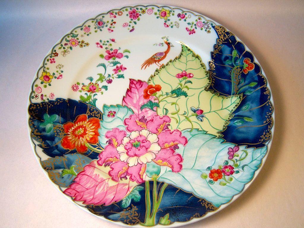 """Mottahedeh """"Tobacco Leaf"""" Dinner Plate"""