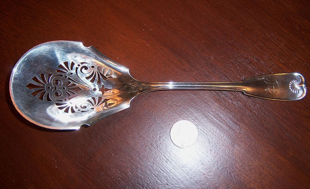 Rare Tiffany Palm, 1871 Ice Spoon
