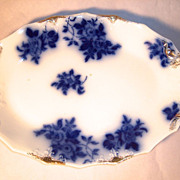 GIRONDE Flow Blue  Oval Platter by W.H.Grindley & Co.
