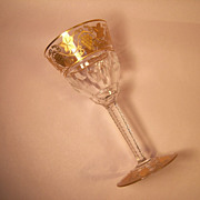 "Val St. Lambert  Pampre D'Or 5 7/8"" White Wine Goblet"