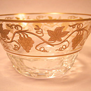 "Val St. Lambert  Pampre D'Or 4 1/4"" Bowl"