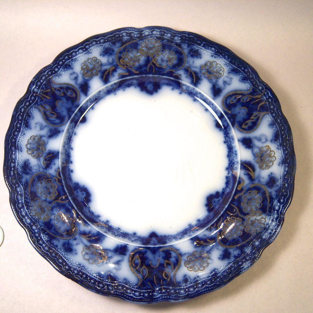 Lovely wood son seville flow blue dessert plate from