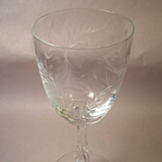 Stunning Tiffin Fernwood Crystal Water Goblet