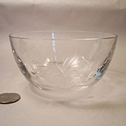 Stunning Tiffin Fernwood Crystal Finger Bowl
