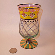 MacKenzie Childs Superb Small Footed Tumbler