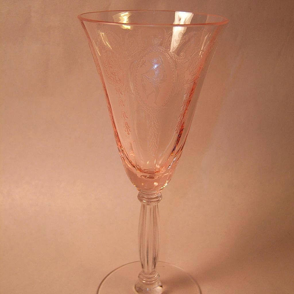 Rare Tiffin Classic Pink Wine #15024