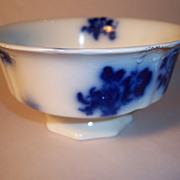GIRONDE Flow Blue Footed Waste Bowl by W.H.Grindley & Co. - Red Tag Sale Item