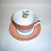 Mottahedeh Summer Fruit Cup & Saucer, Apple