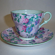 Shelley Summer Glory Demitasse Cup & Saucer, Henley Shape