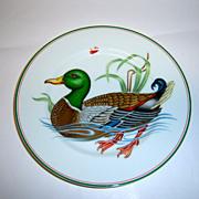 "Fitz & Floyd ""Cardard Sauvage"" Mallard Duck Plate"