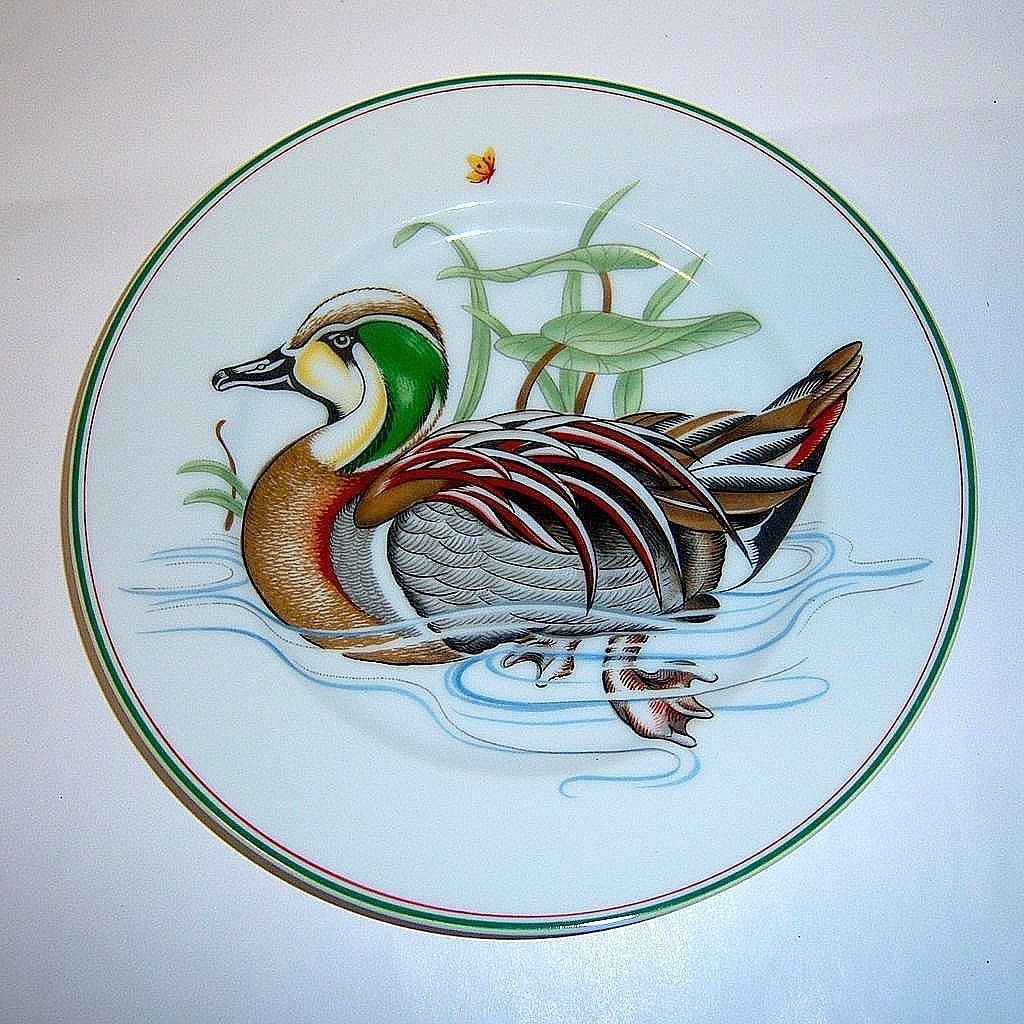 "Fitz & Floyd 'Carnard Sauvage"" Green Winged Teal Duck Plate"