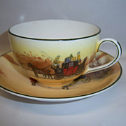 "Royal Doulton ""Coaching Days"" #E3804 Bone China Cup & Saucer"