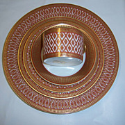 "Fitz & Floyd Stunning ""Gold Pavillion"" 5-Pc Place Setting"