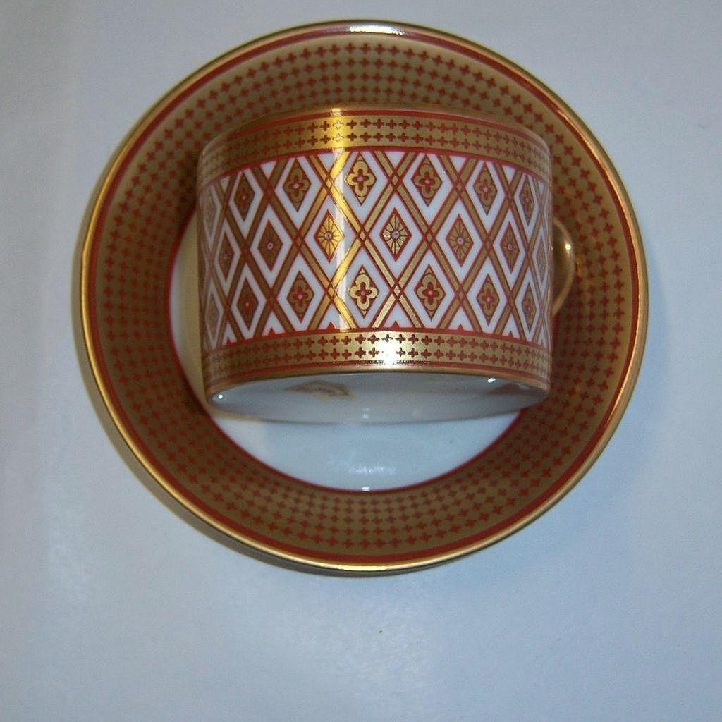 "fitz & Floyd ""Gold Pavillion"" Cup & Saucer Set"