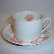 "Fitz & Floyd ""Coquille"" Cup & Saucer Set"