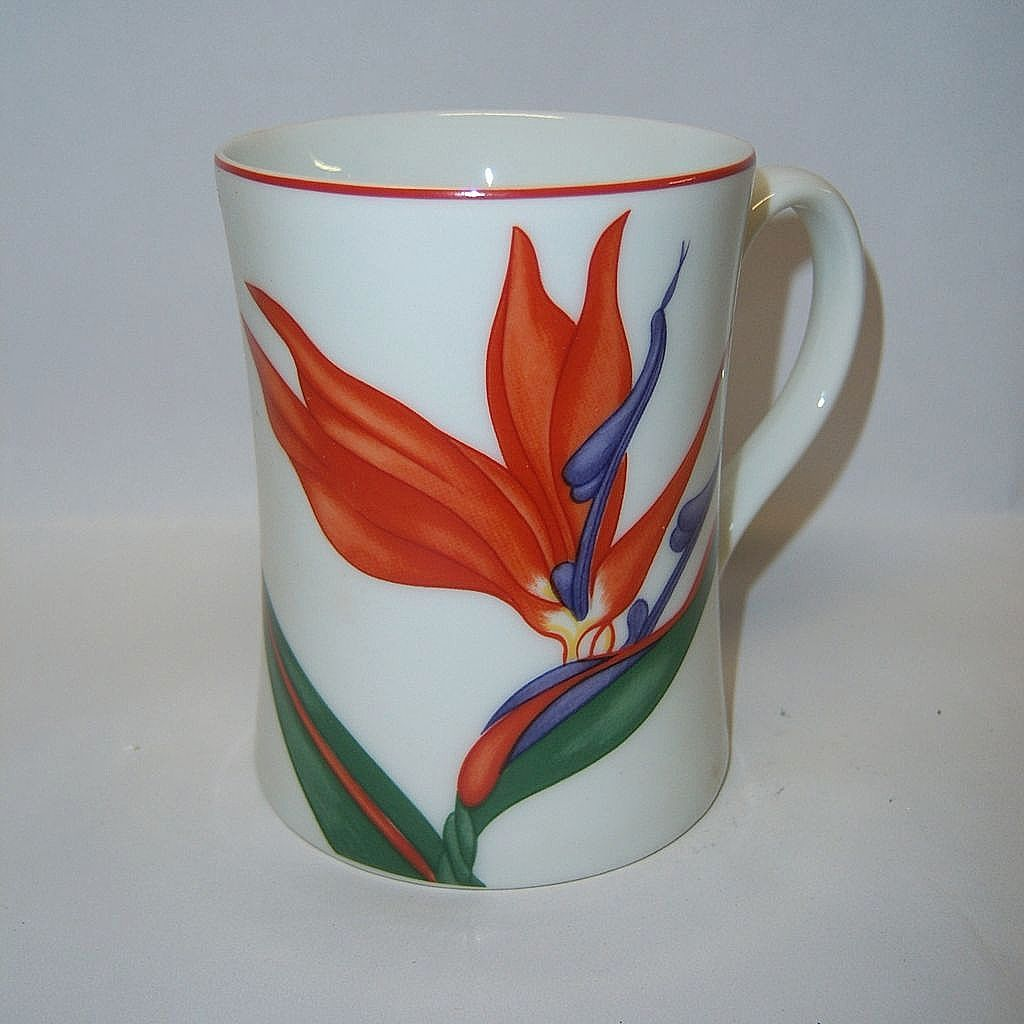 "Fitz & Floyd  ""Bird of Paradise"" Mug"