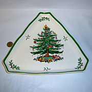 "Spode ""Christmas Tree"" Large Triangular Tray"