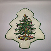 "Spode ""Christmas Tree"" Tree Shaped Tray"