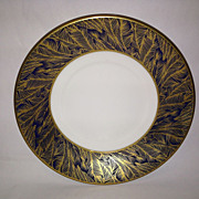 Royal Worcester Gold Feather-Cobalt Tea Cup Saucer Only