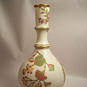 Circa 1890 Worcester Blush Ivory and Floral Vase