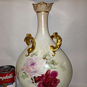 Jean Pouyat Limoges Signed Vase With Roses