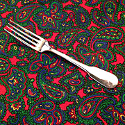 "Christofle Cluny Silver Plate OC Mark 6 3/4"" Table Fork"