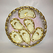 Haviland & Co Mauve and Gold Oyster Plate Salesman Sample