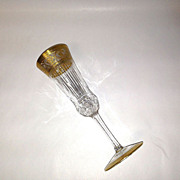 Superb Saint Louis Crystal THISTLE Champagne Flute