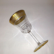 Superb St. Louis Crystal THISTLE Burgundy Wine Goblet