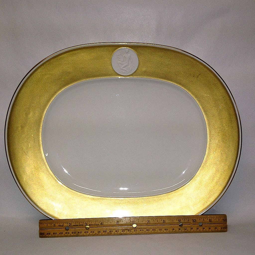 royal berlin kpm gold rim arcadia 15 oval platter from grandviewfinetableware on ruby lane. Black Bedroom Furniture Sets. Home Design Ideas