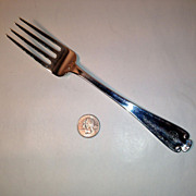 Tiffany Flemish Sterling Meat Serving Fork