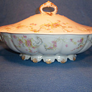 "Haviland ""Princess"" Schleiger 57B Covered Oval Vegetable"