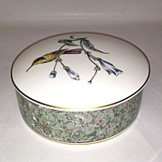 Wedgwood Bone China Hummingbirds Round Lidded Box