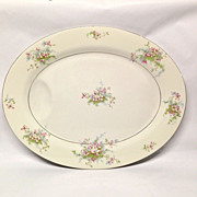 "Theodore Haviland (NY) Apple Blossom 16 1/2"" Platter"