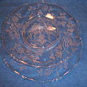 Pair Heisey ROSE Salad Plates