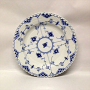 Royal Copenhagen Blue Fluted Full Lace Dinner Plate
