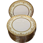 Royal Doulton H. Betteley Gold Encrusted Dinner Plates