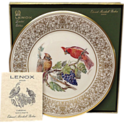 Lenox Boehm Bird Collector Series Cardinal Plate