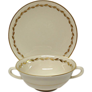 Lenox Golden Wreath Cream Soup & Saucer set