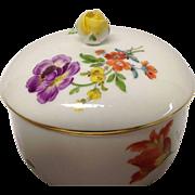 Vintage Meissen Floral Covered Sugar, Pattern 8401,Flowers