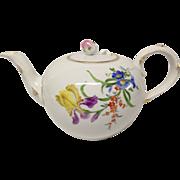 Vintage Meissen Floral Tea Pot, #8401  Flowers