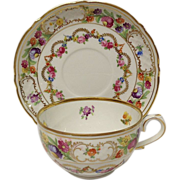 """Vintage Schumann """"Dresden Swags"""" Cup & Saucer Set"""